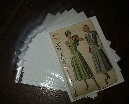 Acid Free Archival Quality Vintage Sewing Pattern Envelopes My Blog