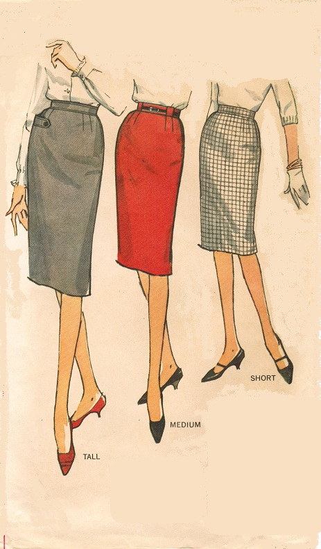 simplicity 4529 vintage 60s pencil skirt sewing pattern