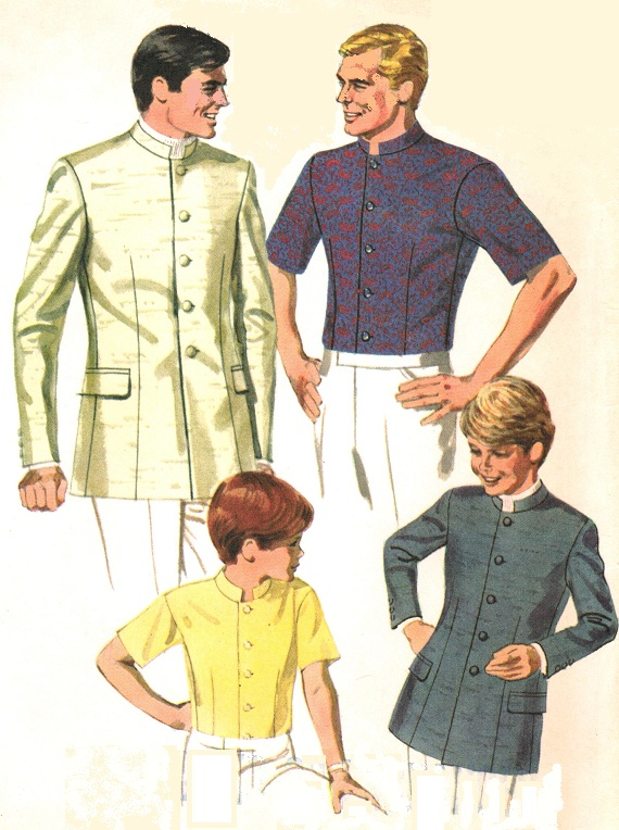 McCall\'s 9484 Vintage 1960s Men\'s NEHRU JACKET Sewing Pattern ...