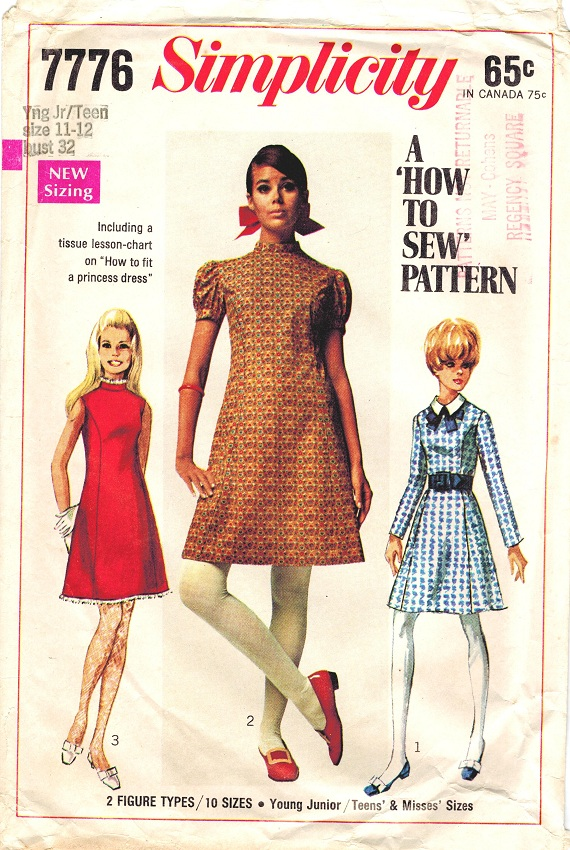 Simplicity 7776 Vintage late 60s Princess Line Dress – Gorgeous and ...