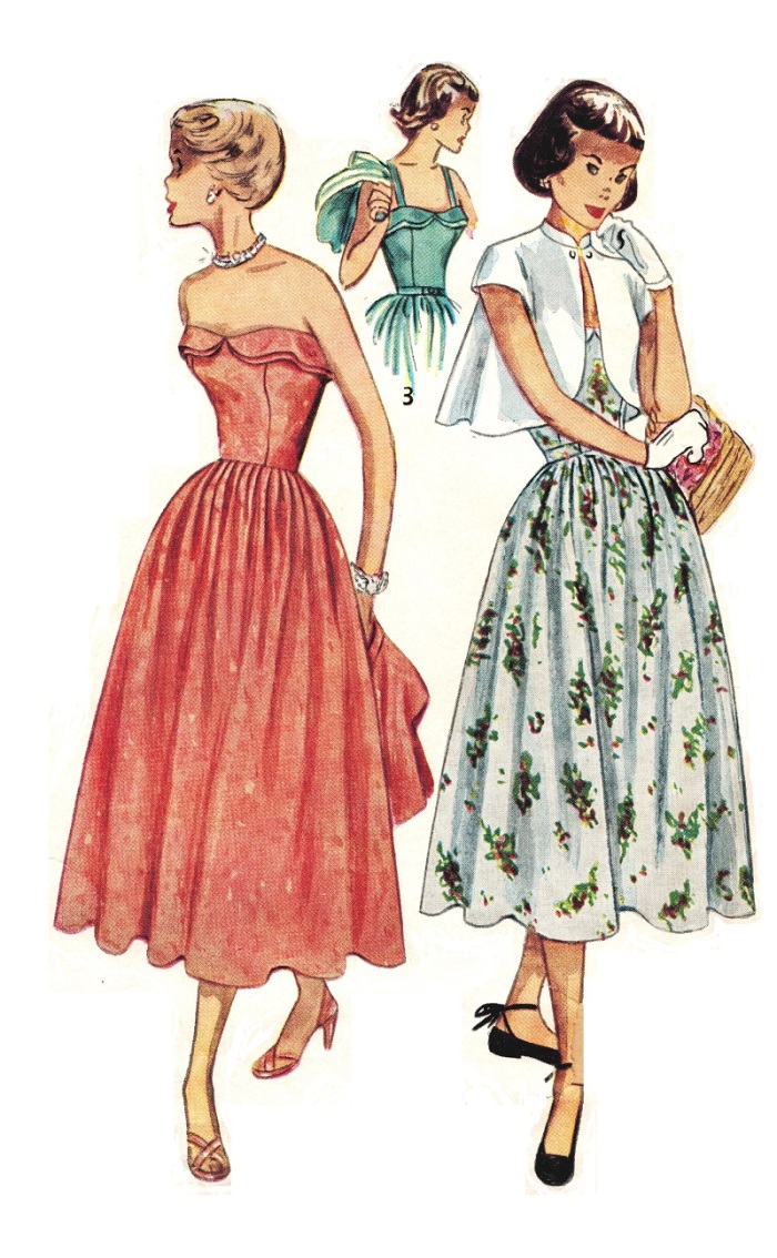 Simplicity 3124 Vintage 1950 Sun Dress Featured in the Spring/Summer Simplicity Pattern Book of the era